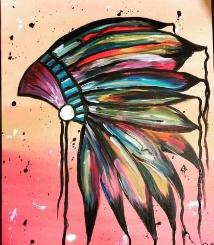 A Earned Wisdom paint nite project by Yaymaker