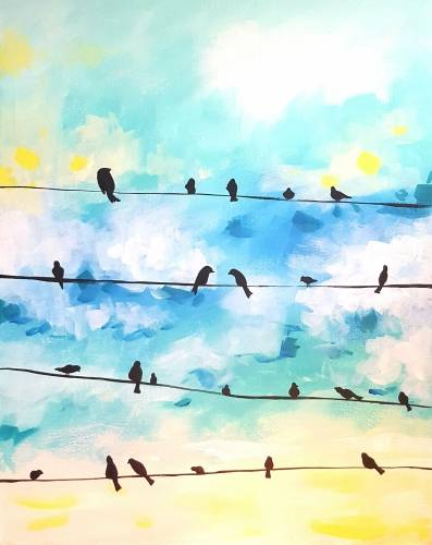 A Bird Talk paint nite project by Yaymaker