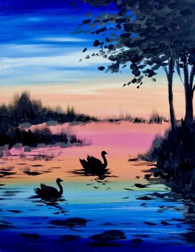 A Dawns on Swans paint nite project by Yaymaker