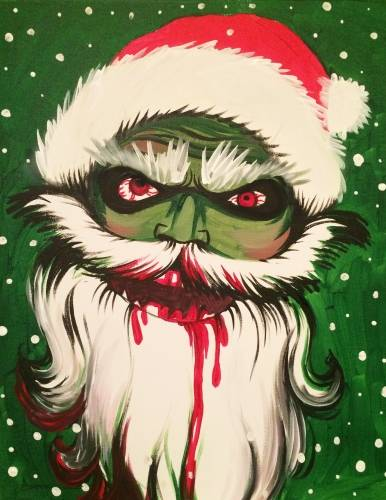 A Santas Gonna Slay paint nite project by Yaymaker
