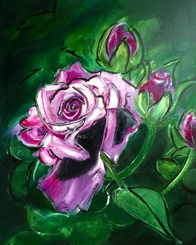 A Smell the Roses paint nite project by Yaymaker