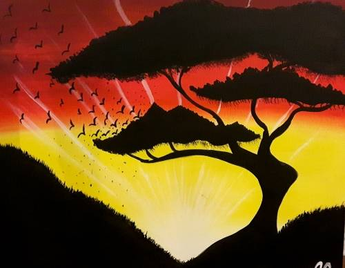 A Bonsai Delight paint nite project by Yaymaker