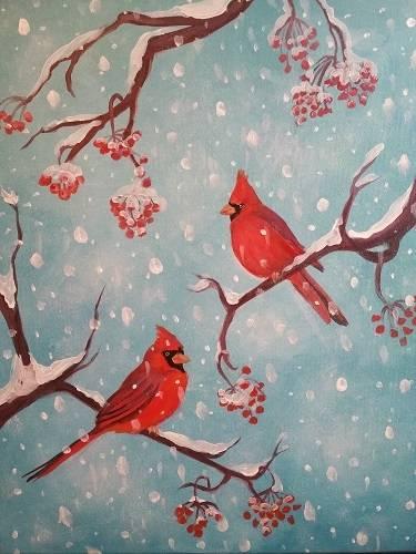 A Cardinal Joy paint nite project by Yaymaker
