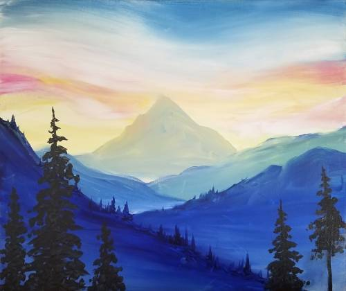 A Mountain Majesty paint nite project by Yaymaker