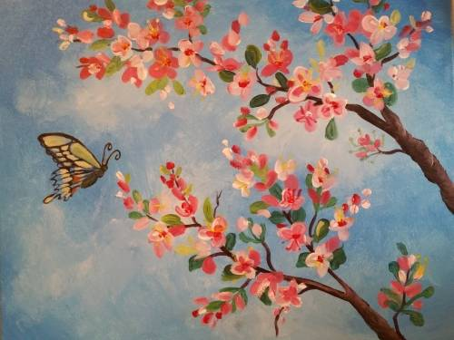 A Swallowtail Picnic paint nite project by Yaymaker
