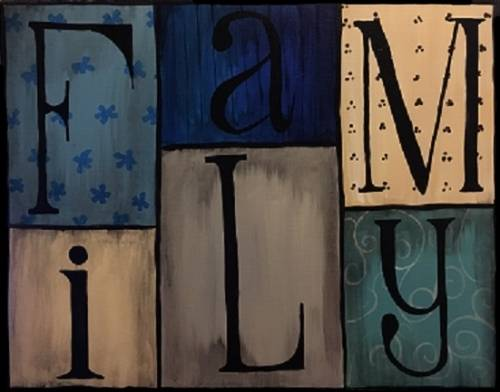 A Patchwork Family paint nite project by Yaymaker