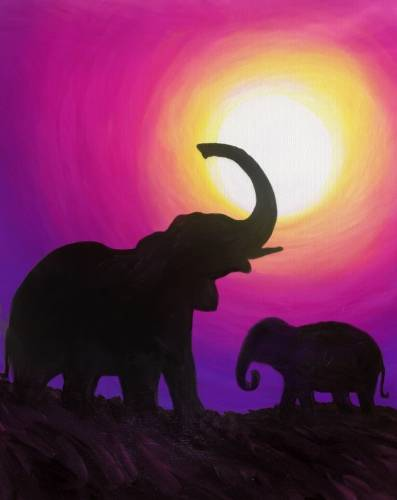 A Elephant Meadow paint nite project by Yaymaker