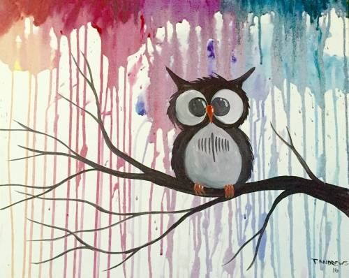 A Whoo Gives A Hoot paint nite project by Yaymaker