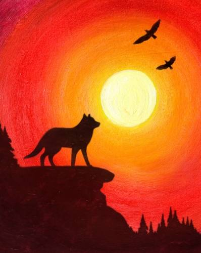 A Spirit of the Wolf paint nite project by Yaymaker