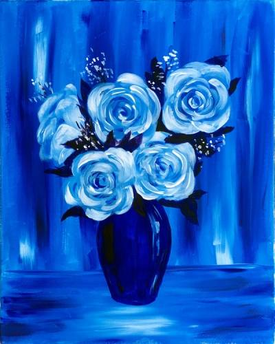 A White Rose Vase paint nite project by Yaymaker