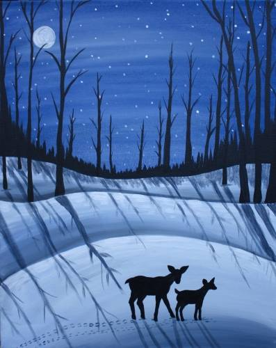 A Winter Walk II paint nite project by Yaymaker