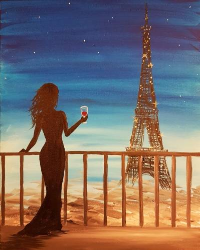 A Cheers Paris paint nite project by Yaymaker