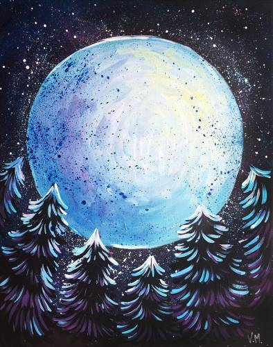 A Super Moon paint nite project by Yaymaker