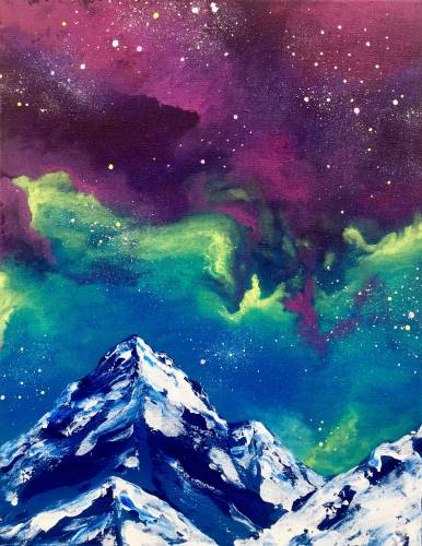 A Galaxy Mountain paint nite project by Yaymaker