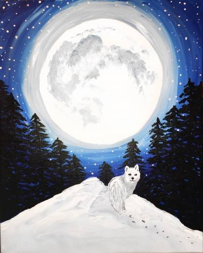 A Winters Moon paint nite project by Yaymaker