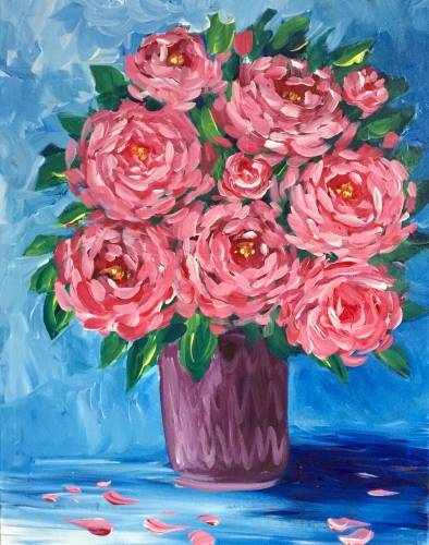 A Rosy Mood paint nite project by Yaymaker