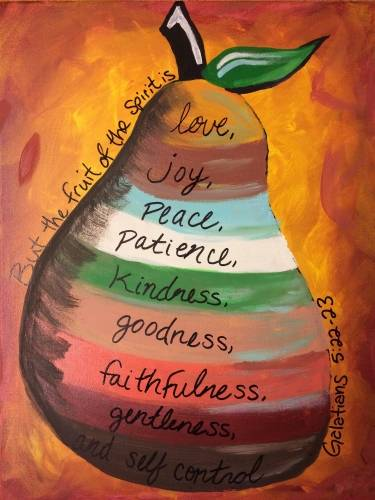 A Fruit of the Spirit paint nite project by Yaymaker