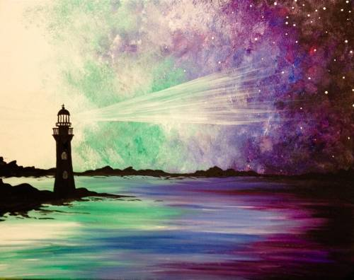 A Galaxy Lighthouse II paint nite project by Yaymaker