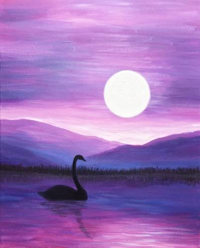 A Black Swan Moonlight paint nite project by Yaymaker