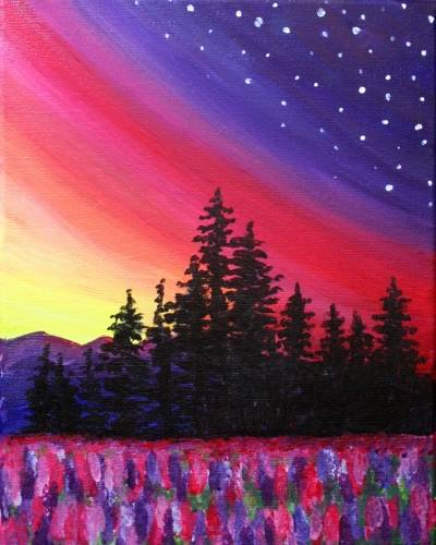 A At the Skys Edge paint nite project by Yaymaker