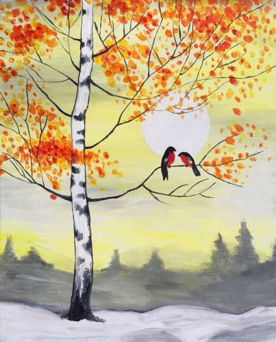 A Snow Birds paint nite project by Yaymaker