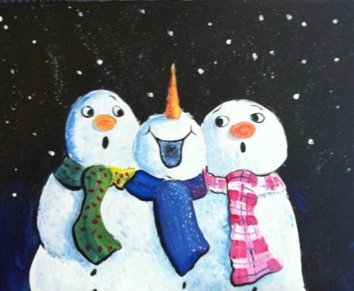 A Snowman Surprize paint nite project by Yaymaker