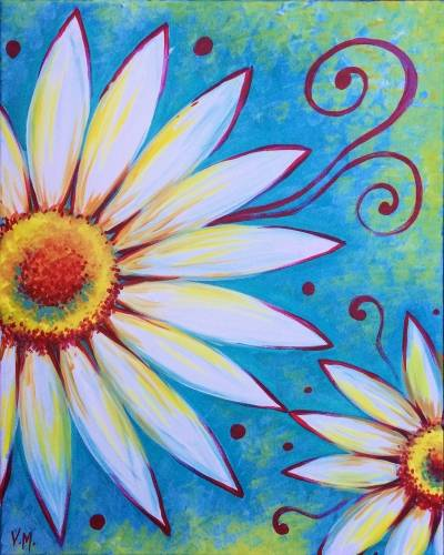 A Flowerful paint nite project by Yaymaker
