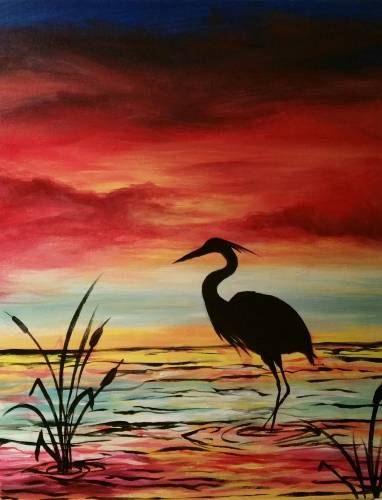A Heron Serenity paint nite project by Yaymaker