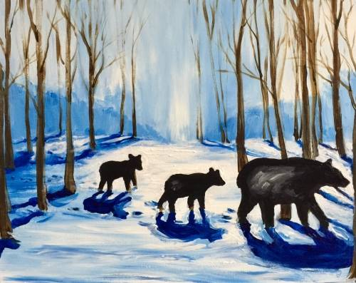 A Its Beary Cold paint nite project by Yaymaker