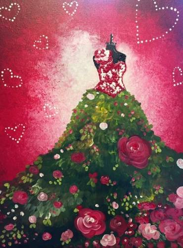 A St Valentine Couture paint nite project by Yaymaker