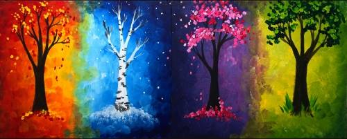 A Seasons Partner Painting paint nite project by Yaymaker
