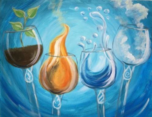 A Drink In The Elements paint nite project by Yaymaker