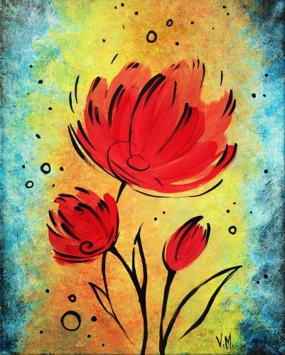 A RAD Flowers paint nite project by Yaymaker
