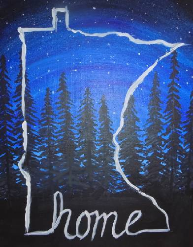 A MN is Home paint nite project by Yaymaker