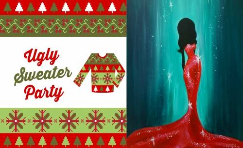 A Ugly Sweater PartyMiss Holli Day paint nite project by Yaymaker