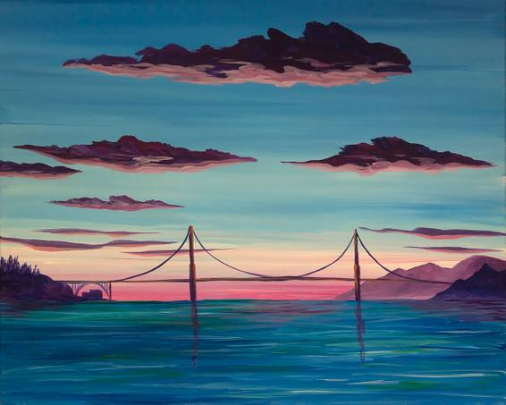 A Golden Gate Magic paint nite project by Yaymaker