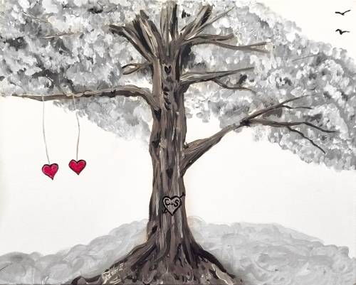 A The Sweetheart Tree paint nite project by Yaymaker