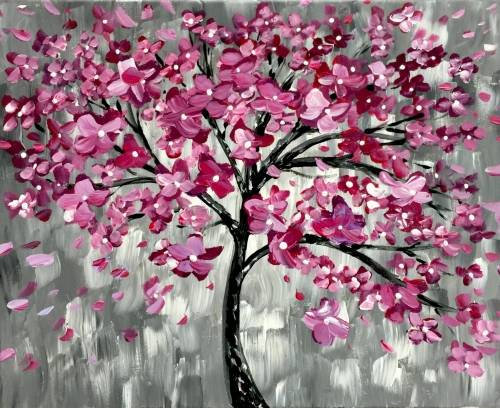 A Dreamy Dogwood paint nite project by Yaymaker
