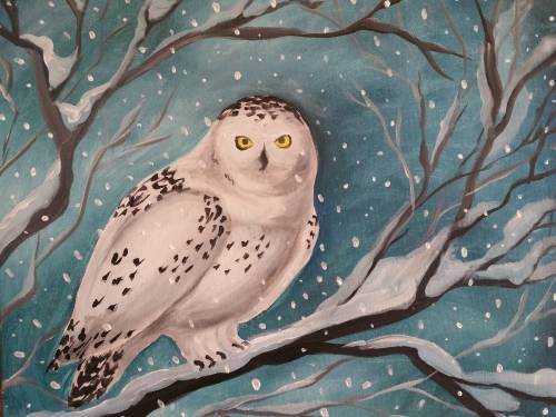 A Snowy Day II paint nite project by Yaymaker