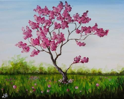 A Blossoms And Roses paint nite project by Yaymaker