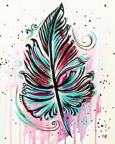 A Light as a Feather paint nite project by Yaymaker