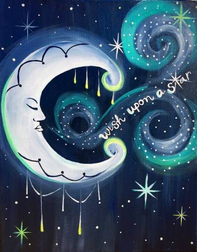 A Magical Wish Upon a Star paint nite project by Yaymaker