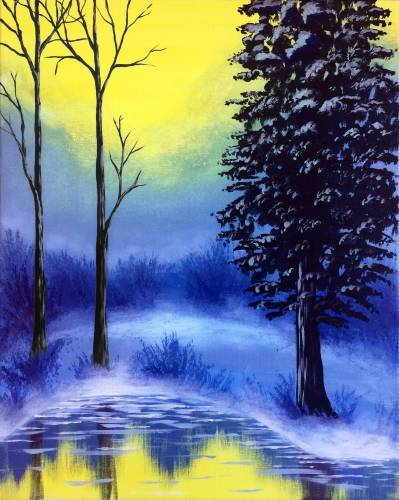 A Misty Morning paint nite project by Yaymaker