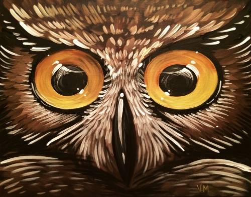A Ow Ow Owl paint nite project by Yaymaker