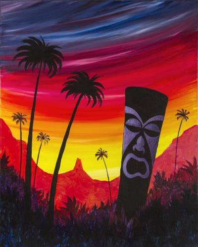 A Tiki Island paint nite project by Yaymaker