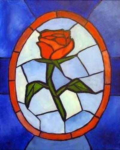 A Stained Glass Rose II paint nite project by Yaymaker