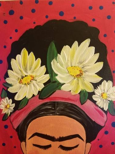 A Frida en Rosa paint nite project by Yaymaker