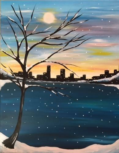 A A Winter Apart paint nite project by Yaymaker