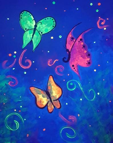 A Butterfly Nite Life Black Light paint nite project by Yaymaker