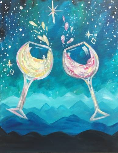 A Wanderlust with Wine paint nite project by Yaymaker